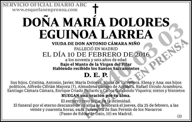 María Dolores Eguinoa Larrea